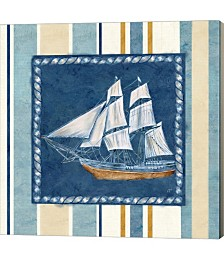 Nautical Stripe II by Cynthia Coulter Canvas Art