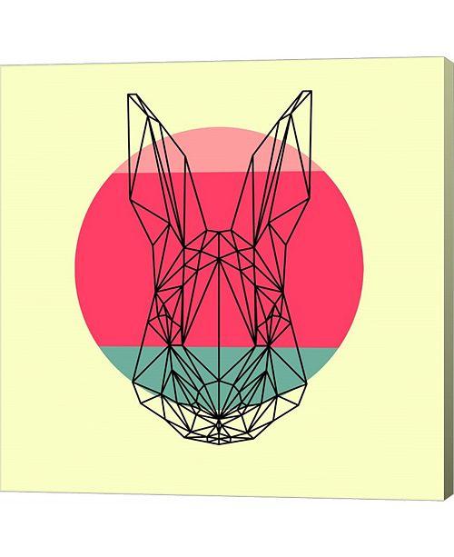 Metaverse Rabbit and Sunset by Lisa Kroll Canvas Art