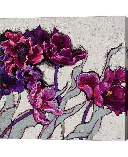 Metaverse Ruffled Tulips by Shirley Novak Canvas Art