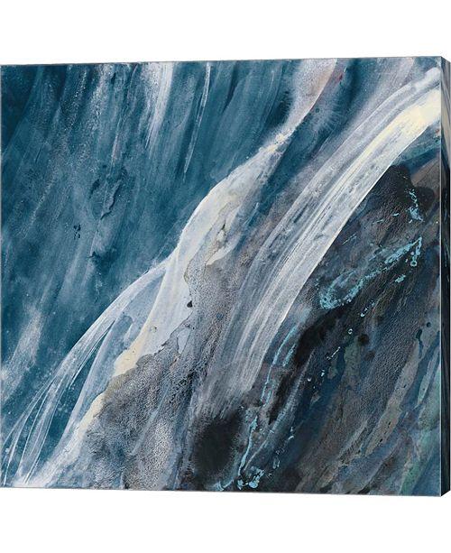 Metaverse Splash indigo by Albena Hristova Canvas Art