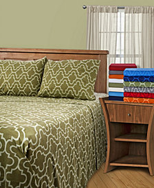 Superior Flannel Cotton Sheet Set Solid - King- White
