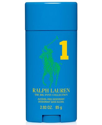 Ralph Lauren Polo Big Pony Blue #1 Alcohol-Free Deodorant, 2.93 oz