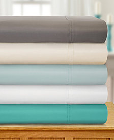 Superior 1800 Thread Count Cotton Rich Solid Sheet Set - Queen - White