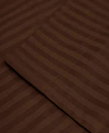 Superior 650 Thread Count Egyptian Cotton Stripe Duvet Set - Full/Queen - White