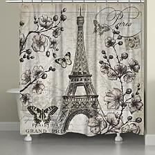 Paris In Bloom Shower Curtain