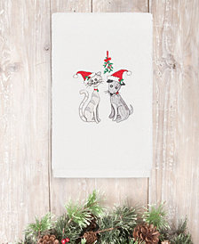 Linum Home Christmas Cute Couple 100% Turkish Cotton Hand Towels