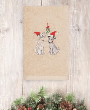 Image of Closeout! Linum Home Christmas Cute Couple 100% Turkish Cotton Hand Towel Bedding