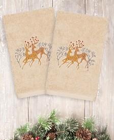 CLOSEOUT! Linum Home Christmas Deer 100% Turkish Cotton 2-Pc. Hand Towel Set
