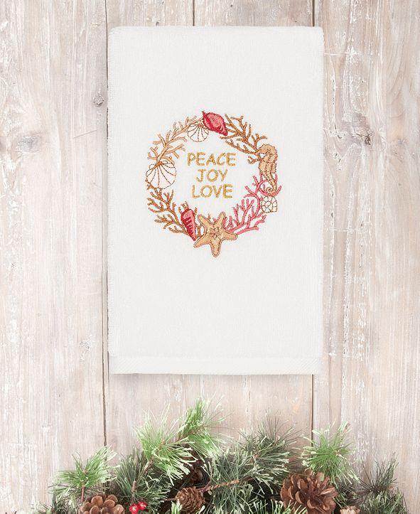 Linum Home CLOSEOUT!  Christmas Peace 100% Turkish Cotton Hand Towel