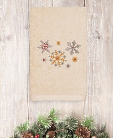 CLOSEOUT!  Christmas Snowfall 100% Turkish Cotton Hand Towel