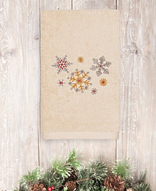 Linum Home Christmas Snowfall 100% Turkish Cotton Hand Towels