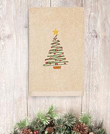 CLOSEOUT!  Linum Home Christmas Tree 100% Turkish Cotton Hand Towel