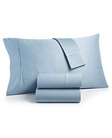 CLOSEOUT! Sleep Luxe 700 Thread Count, Dobby Dot 4-PC California King  Sheet Set, 100% Egyptian Cotton, Created for Macy's