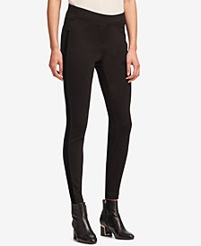 DKNY Pull-On Velvet-Trim Pants, Created for Macy's