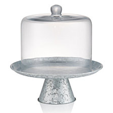 Artland Glass Cake Dome With Galvanized Stand