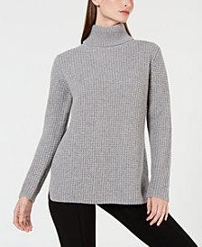 Calvin Klein Cashmere Textured Turtleneck Sweater