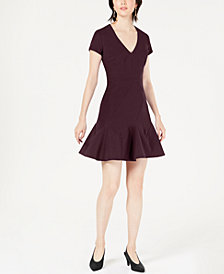 Bar III Seam-Detail Fit & Flare Dress, Created for Macy's