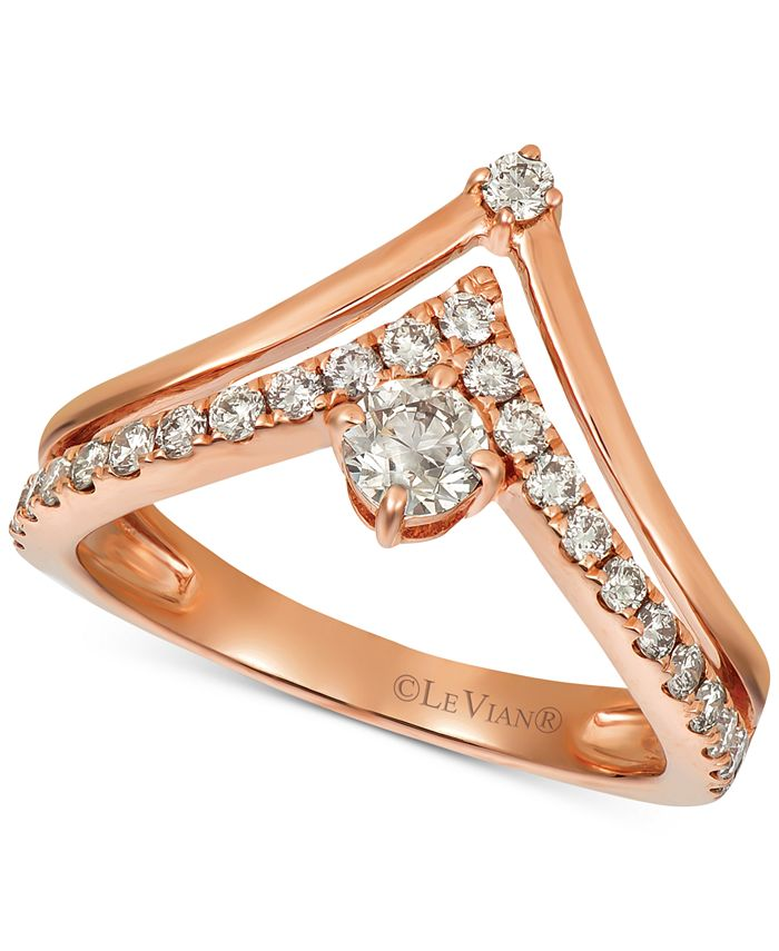 Le Vian - Nude Diamonds™ Crown Ring (5/8 ct. t.w.) in 14k Rose Gold
