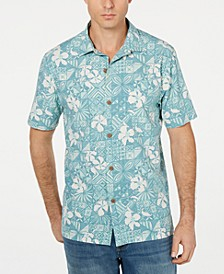 Men's Big & Tall Tahitian Tiles Hawaiian Shirt