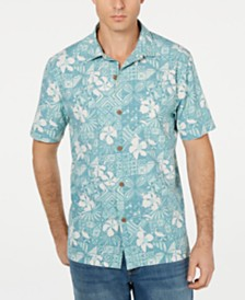 Tommy Bahama Men's Big & Tall Tahitian Tiles Hawaiian Shirt