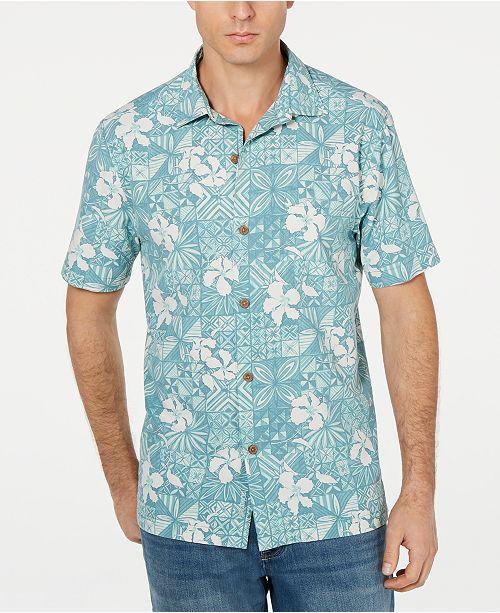 aea427d93 ... Tommy Bahama Men's Big & Tall Tahitian Tiles Hawaiian Shirt ...