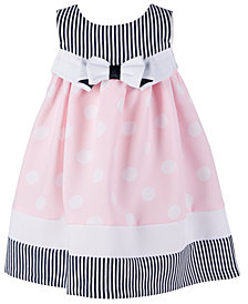 Bonnie Baby Baby Girls Printed Poplin Dress