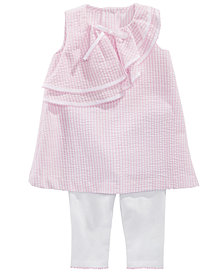 Bonnie Baby Baby Girls 2-Pc. Seersucker Tunic & Capri Set