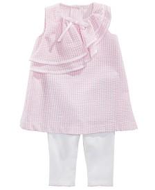 Bonnie Baby Baby Girls 2-Pc. Seersucker Tunic & Capri Set