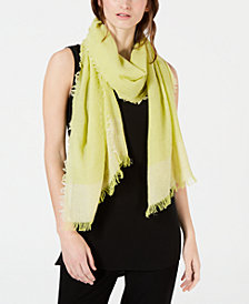Eileen Fisher Fringe Colorblocked Scarf
