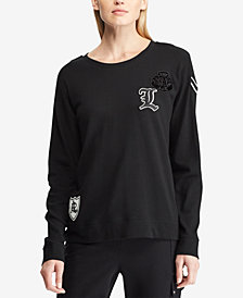 Lauren Ralph Lauren Embroidered French Terry Pullover