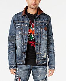 Heritage American Men's Wolf Denim Jacket