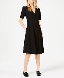 Weekend Max Mara Benda Puff-Sleeve A-Line Dress