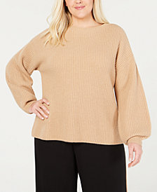 Eileen Fisher Plus Size Cashmere Round-Neck Sweater