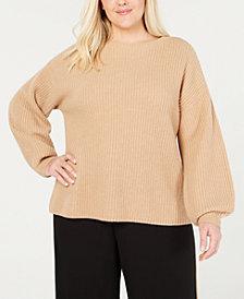 Eileen Fisher Plus Size Cashmere Round-Neck Sweater