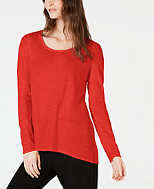 Eileen Fisher Cotton Long-Sleeve Top, Regular & Petite