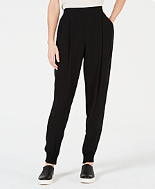 Eileen Fisher Silk Slouchy Cuffed Ankle Pants, Regular & Petite