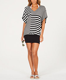 MICHAEL Michael Kors Striped Cover-Up Dress