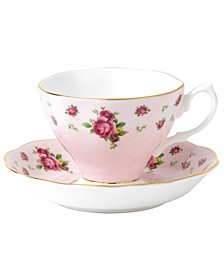 Old Country Roses Pink Vintage Cup and Saucer