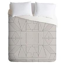 Deny Designs Holli Zollinger Line Mandala Queen Duvet Set