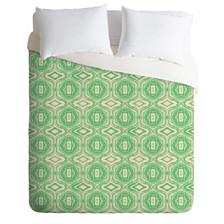 Deny Designs Holli Zollinger Anthology Of Pattern Seville Marble Green Queen Duvet Set