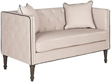 Sarah Tufted Settee With Pillows
