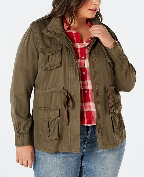 668ada76a0f2d ... Style   Co Plus Size Cargo Jacket