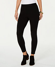 Style & Co Faux-Suede Blocked Leggings, Created for Macy's
