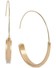Lucky Brand Gold-Tone Modern Hoop Earrings