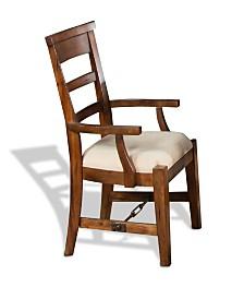 Tuscany Vintage Mocha Arm Chair, Cushion Seat