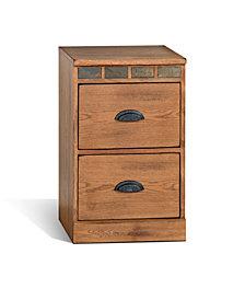 Sedona Rustic Oak File Cabinet