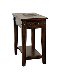 "Santa Fe 27""H Dark Chocolate Chair Side Table"