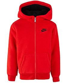 Nike Little Boys Faux-Sherpa Full-Zip Hoodie