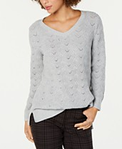 70ee8664562 Style & Co Pointelle-Knit Tunic Sweater, Created for Macy's