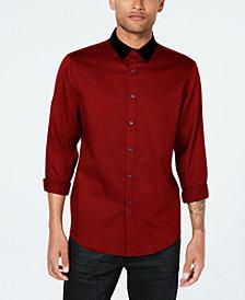 INC Men's Velvet Collar Shirt, Created for Macy's